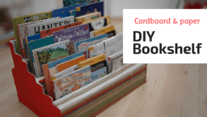 reuse ideas bookcase from cardboard