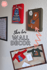 wall decor with shoe box
