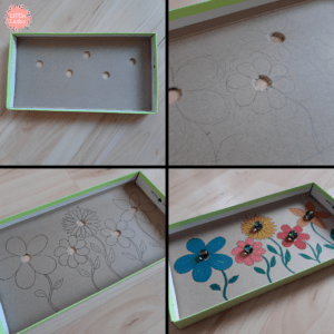 How to reuse shoe box to make a game for kids