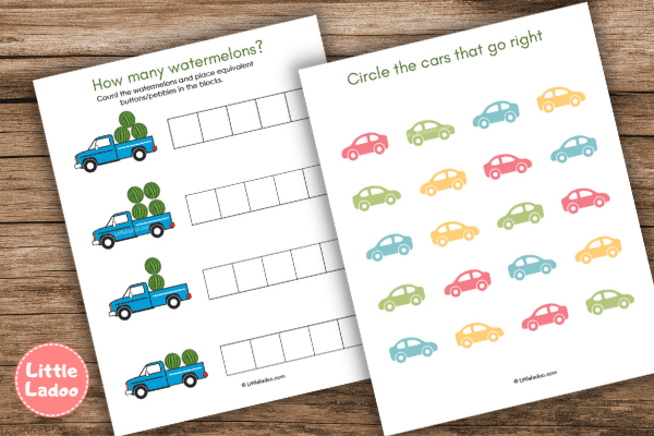vehicle counting and sorting worksheet