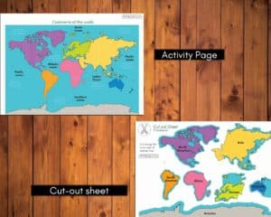 continents activity printable