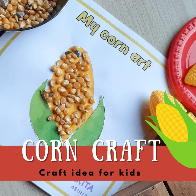 craft with corn kernels