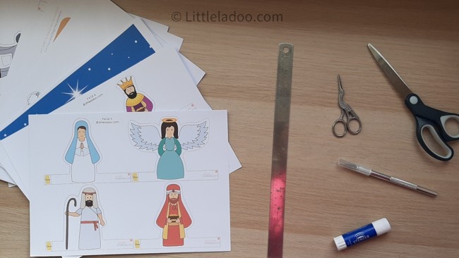 Nativity printables and tools needed