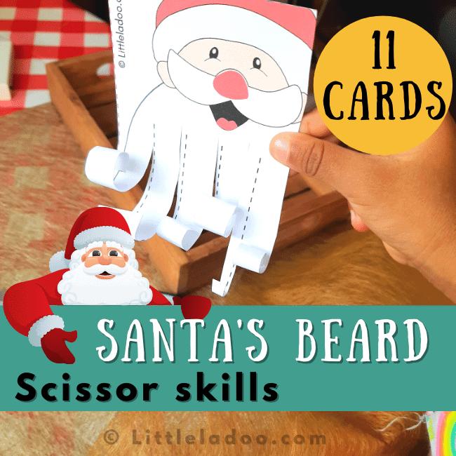 santa bread trim scissor skill