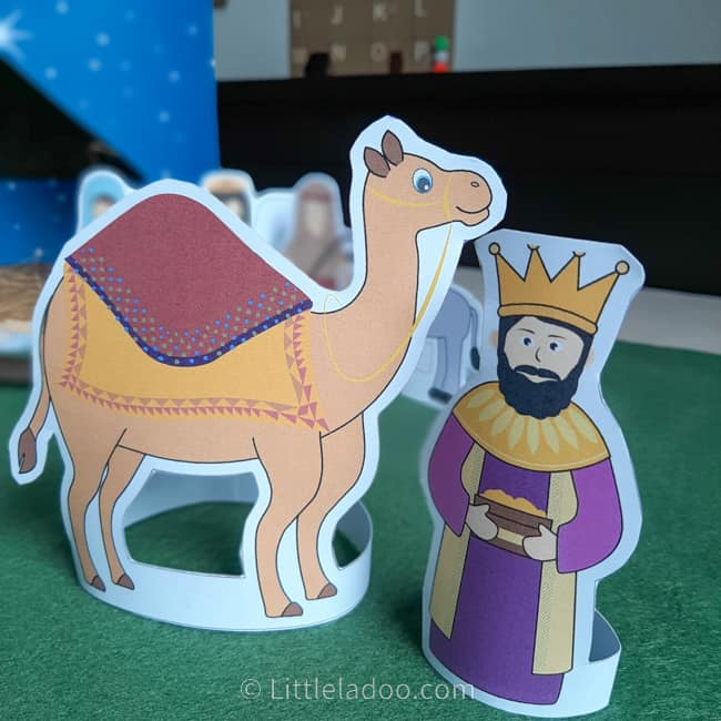 wise man and camel from nativity