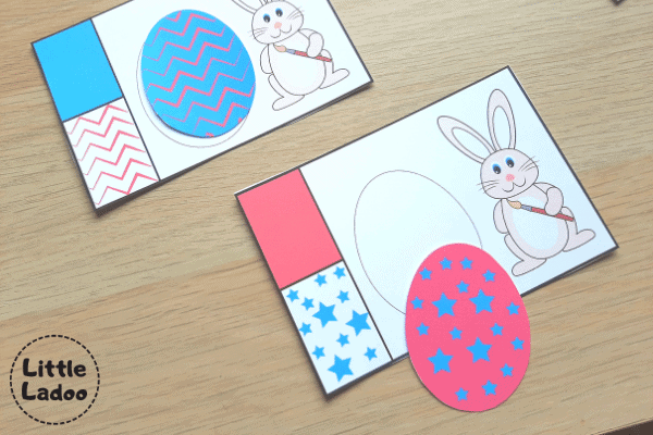 Easter egg matching cards