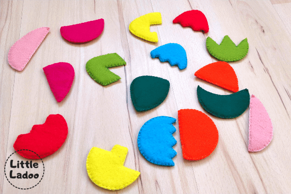 Easter egg puzzle pieces