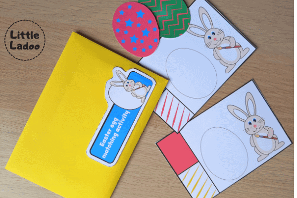 Store the busy bag activity cards in an envelope