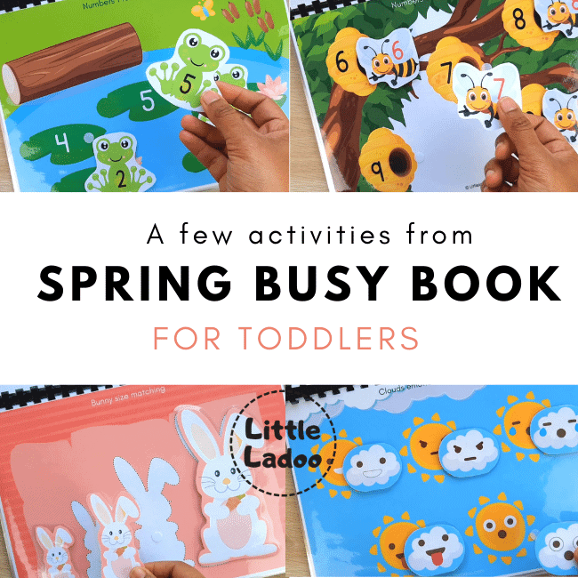 Spring busy book activities
