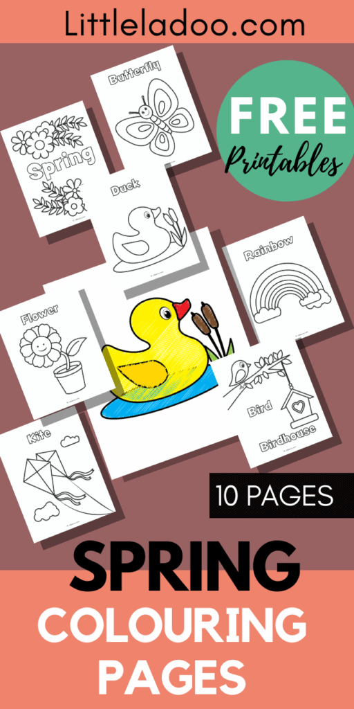 10 pages of spring colouring pages