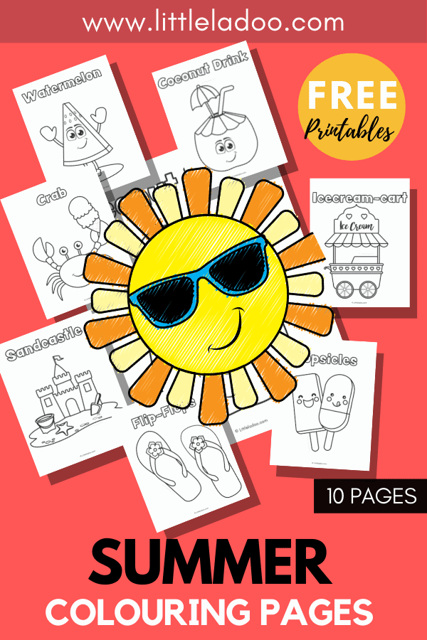 Free printable Summer Colouring pages