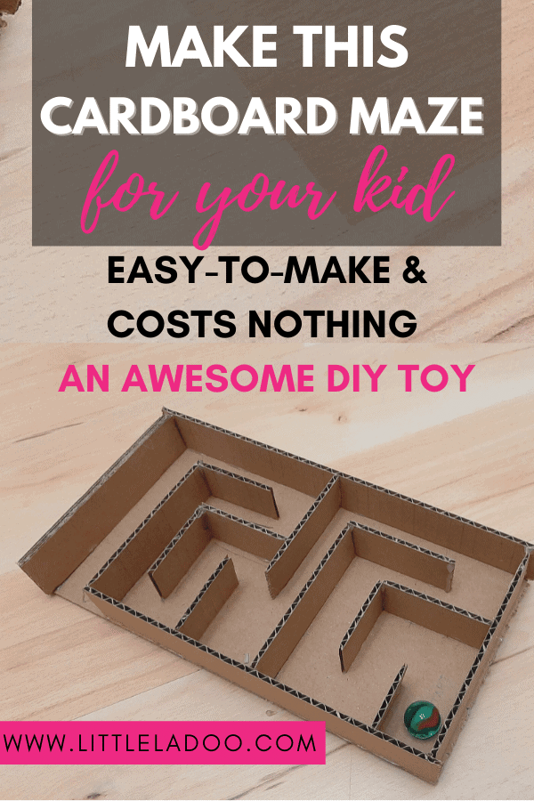 cardboard toy for toddlers