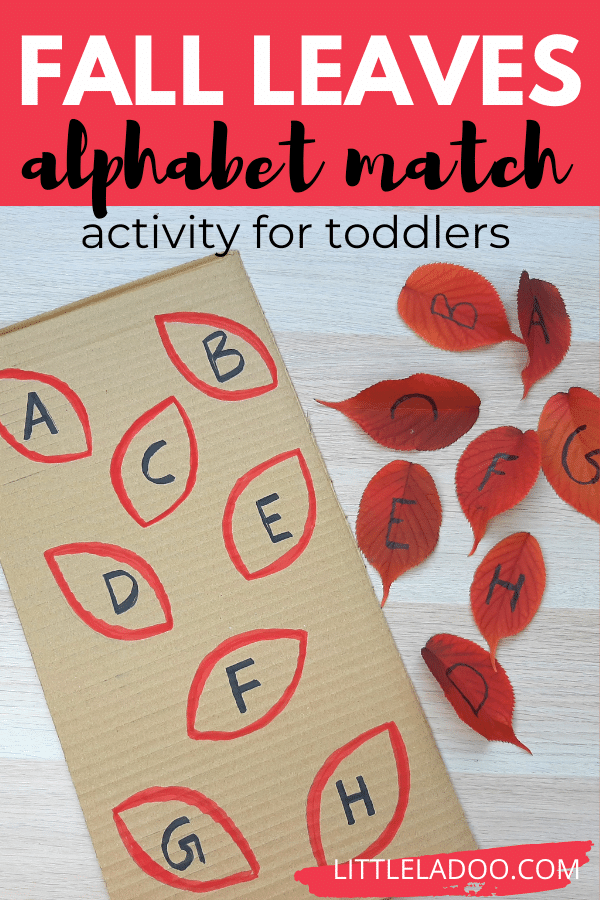 ALPHABET MATCHING WITH FALL LEAVES