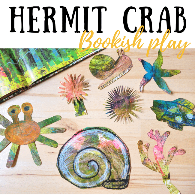 A house for hermit crab bookish play