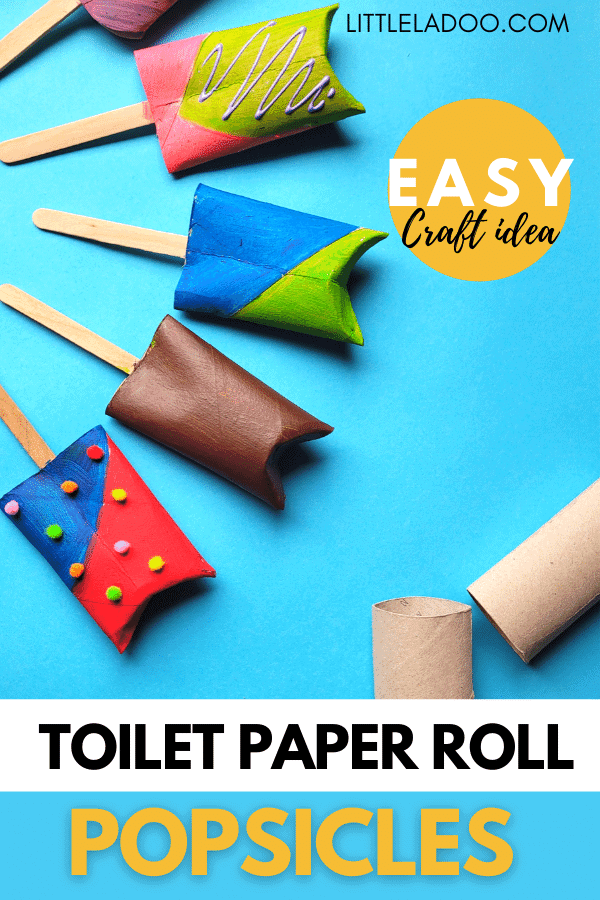 Toiler paper roll popsicles-easy craft for kids