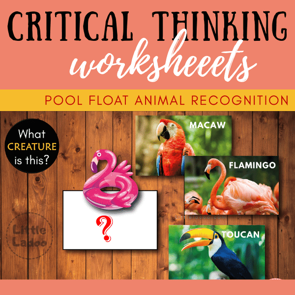 Critical thinking worksheets pool float match