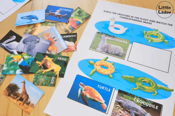 critical thinking worksheets and image cards