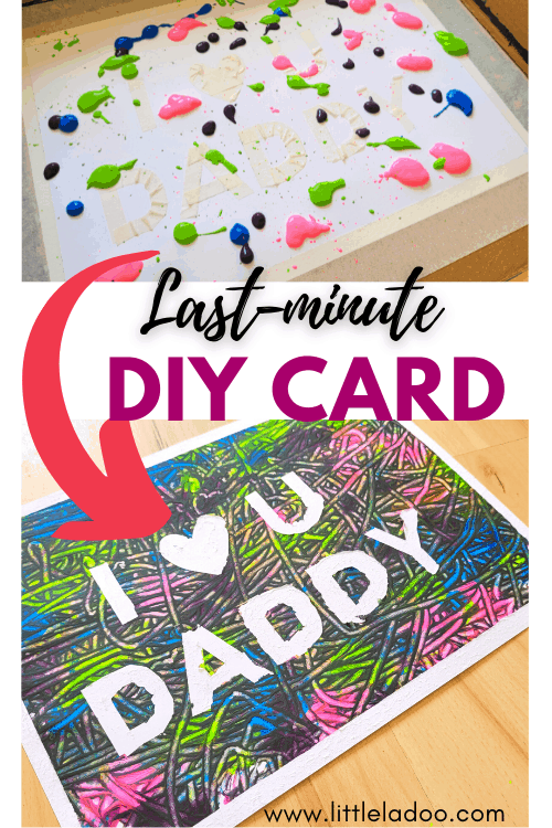 DIY Father's day card