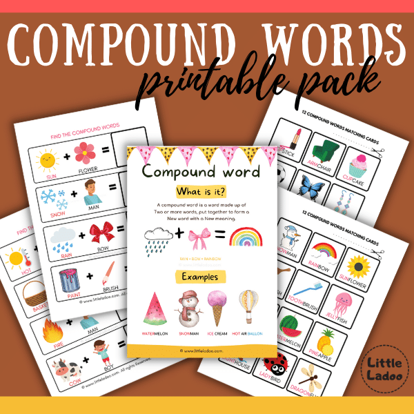 compound words for kids free printable pack