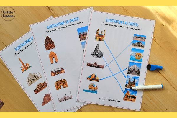 Monuments of India worksheets