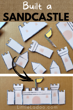 Sandcastle made with paper