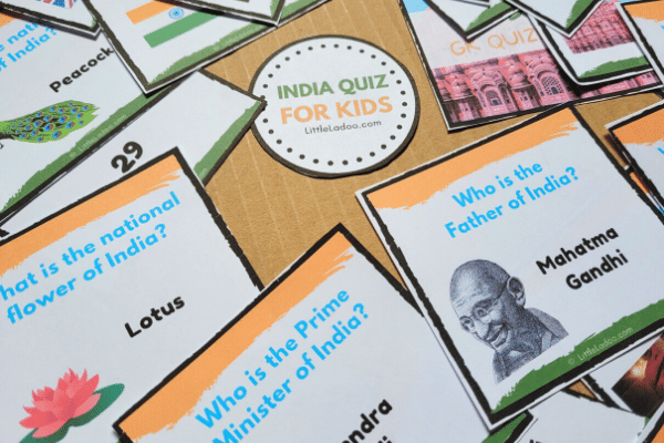 Gerneral Knowledge questions about india for preschoolers