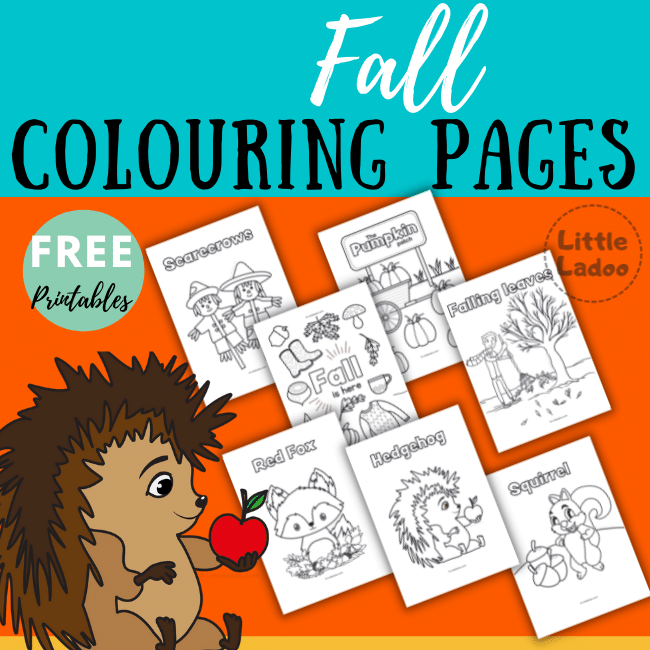 Fall colouring pages