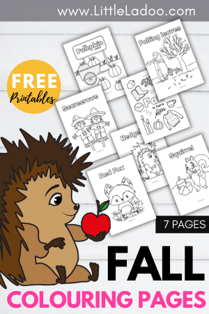 Free printable fall colouring pages