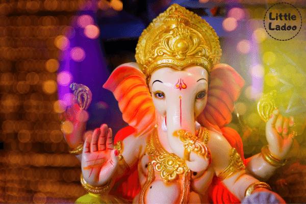 Elephant headed god of Hindu