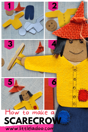 how to make a scarecrow with printable template