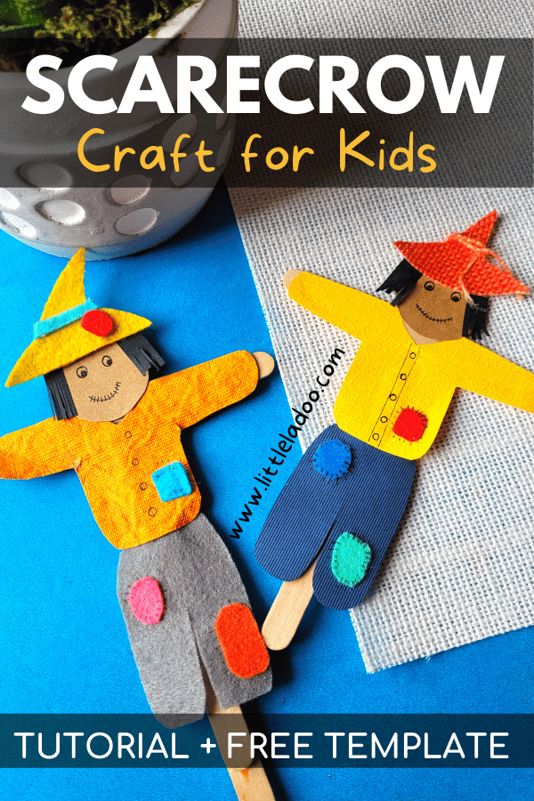 Scarecrow craft with printable template