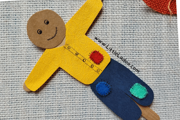Scarecrow hat on Popsicle stick